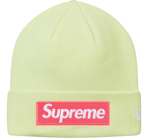 Supreme New Era Box Logo Beanie (FW17) Pale Lime