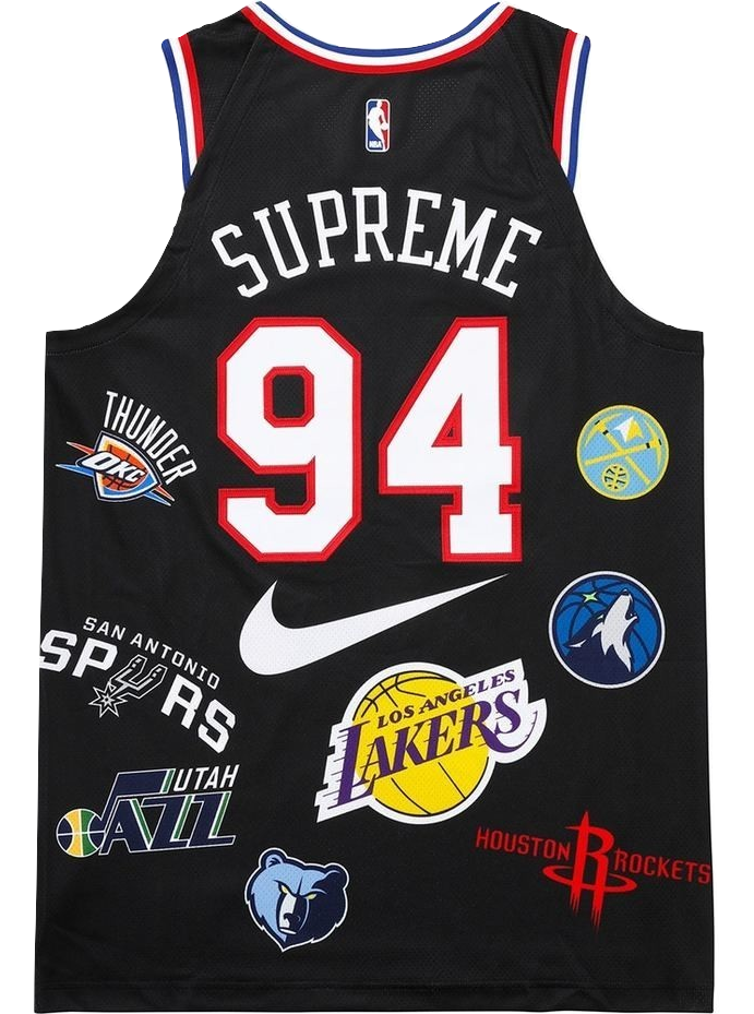 Supreme Nike NBA Teams Authentic Jersey - Black – grails sf 8878612c7