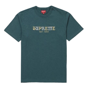 Supreme Nouveau Logo Tee - Dark Teal - Used