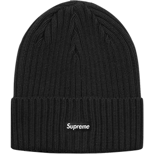 Supreme Overdyed Ribbed Beanie (SS18) - Black