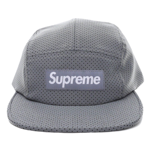 Supreme Perforated Reflective Camp Cap - Grey