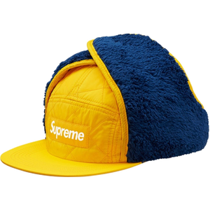 Supreme Hat-Quilted Earflap Camp Cap