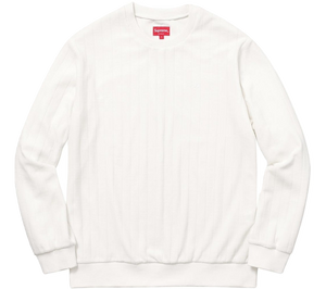 Supreme Ribbed Velour Crewneck
