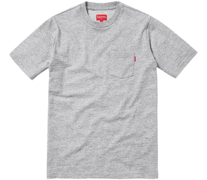 Supreme Short Sleeve Pocket Tee - Heather Grey - Used