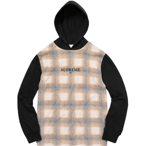 Supreme Shadow Plaid Hooded L/S Top - Brown