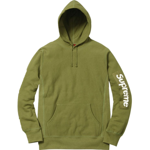 Supreme Sleeve Patch Hooded Sweatshirt - Moss