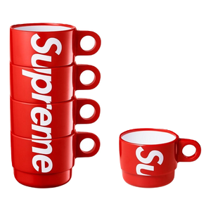 Supreme Stacking Cups (Set of 4) - Red