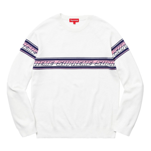 Supreme Striped Raglan Sweater - Off White