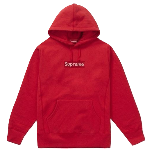 Supreme Swarovski Box Logo Hooded Sweatshirt - Red