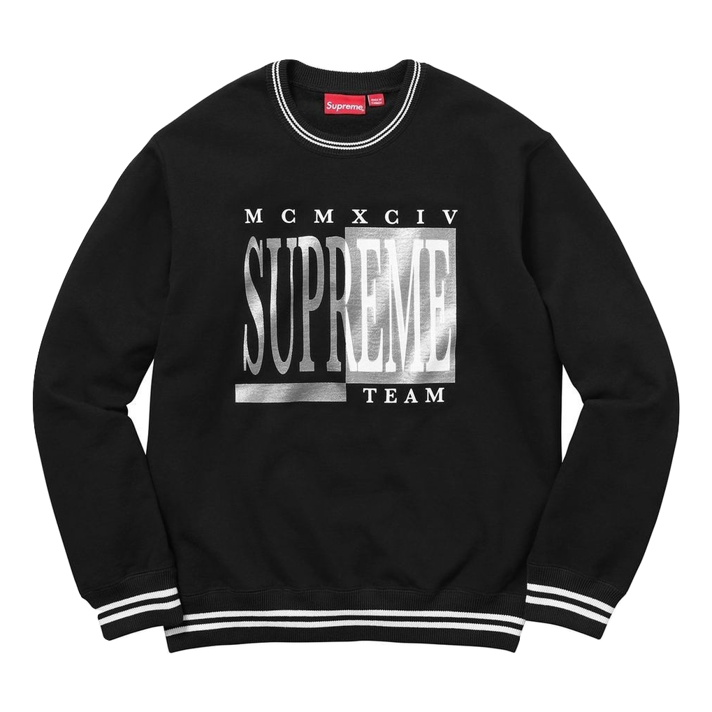 Supreme Team Crewneck - Black - Used