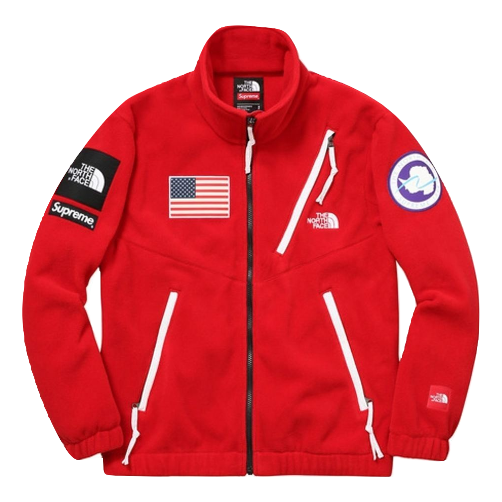 Supreme/The North Face Trans Antarctica Expedition Fleece Jacket - Red