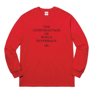 Supreme UNDERCOVER/Public Enemy Counterattack L/S Tee Red