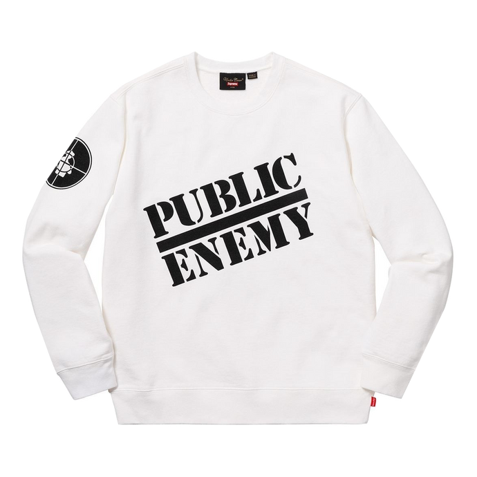 Supreme UNDERCOVER/Public Enemy Crewneck Sweatshirt White