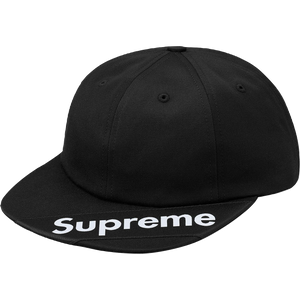 Supreme Visor Label 6-Panel - Black