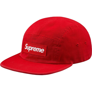 Supreme Washed Chino Twill Camp Cap - Red (FW18)