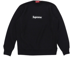 Supreme Box Logo Crewneck FW15 - Black - Used