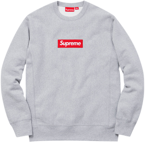 Supreme Box Logo Crewneck - Grey