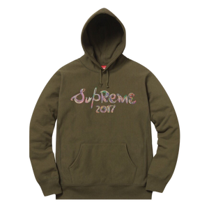 Supreme Brush Logo hooded Sweatshirt