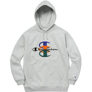 Supreme/Champion Stacked C Hooded Sweatshirt - Heather Grey