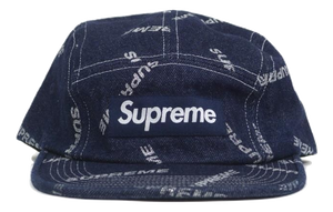 Supreme Denim Logo Camp Cap