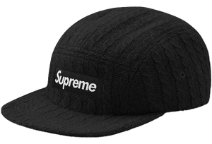 Supreme Fitted Cable Knit Camp Cap