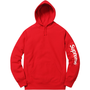 Supreme Sleeve Patch Hooded Sweatshirt - Red - Used