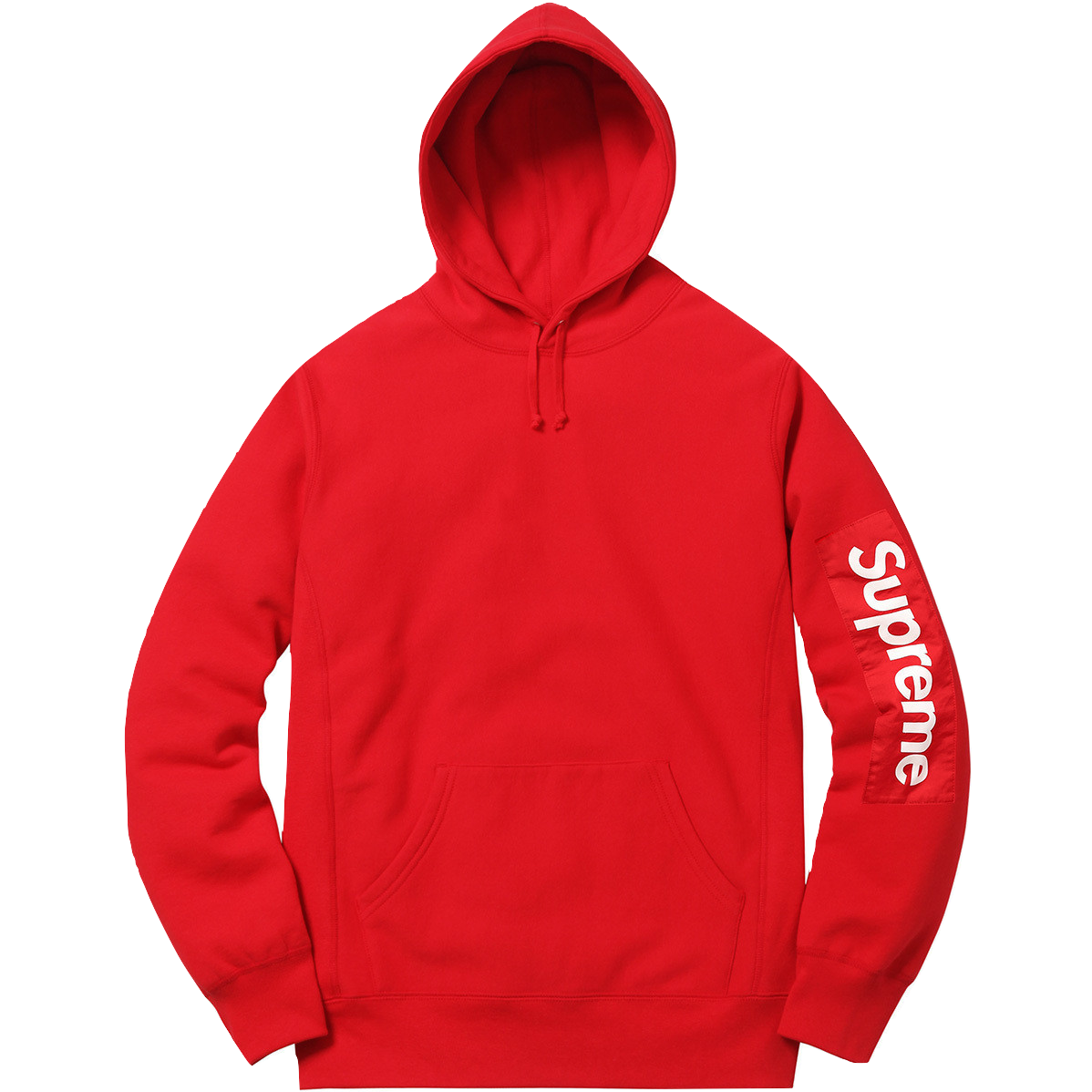 Supreme Sleeve Patch Hooded Sweatshirt - Red