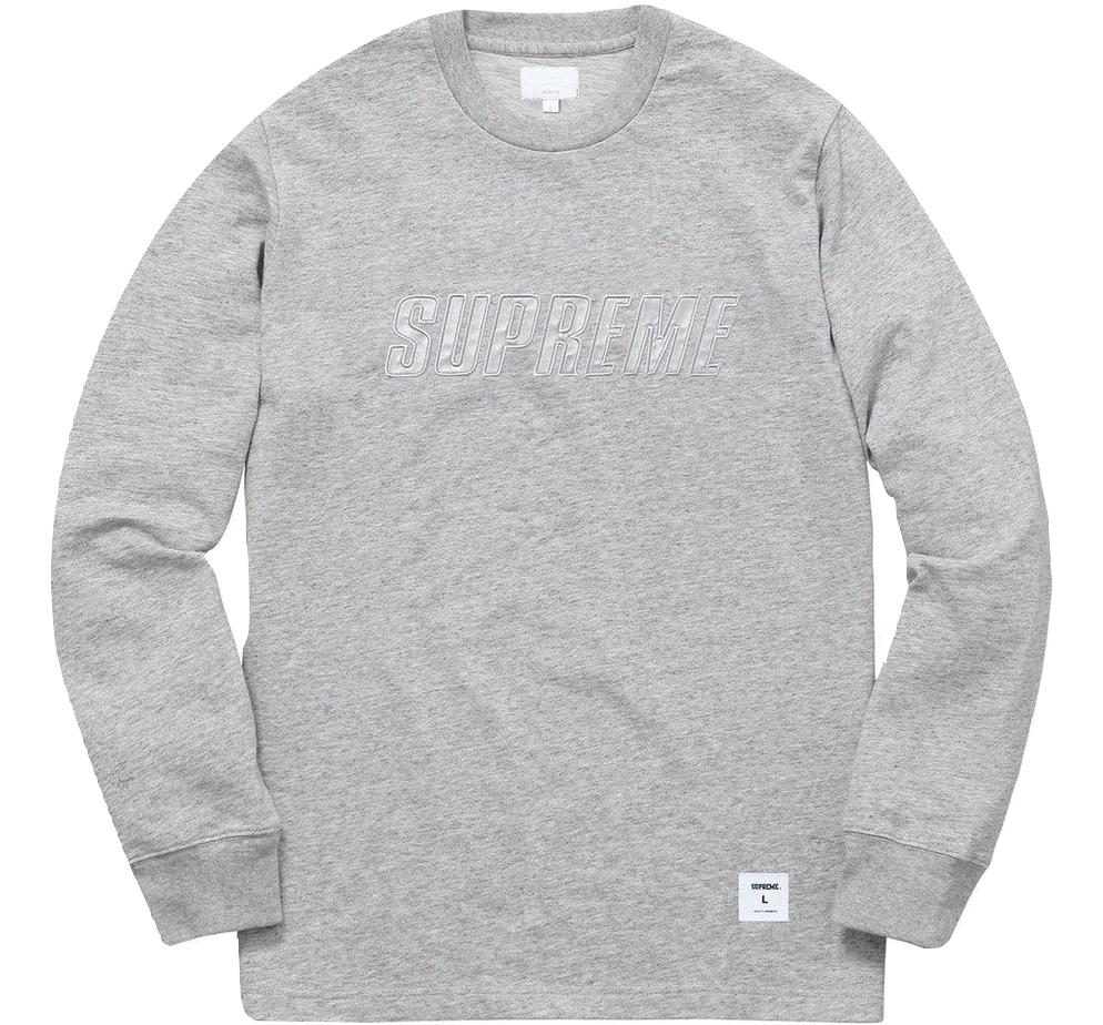 Supreme Reflective L/S Top - HTH Grey