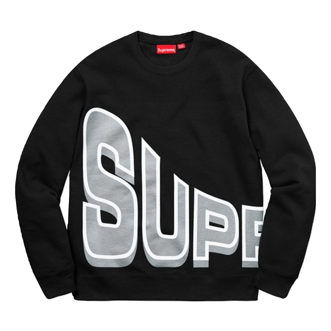 Supreme Side Arc Crewneck - Black