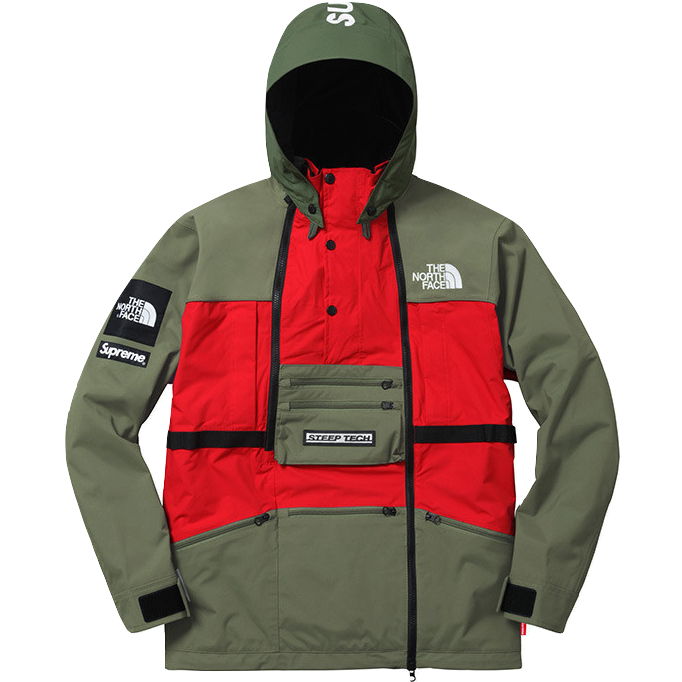 supreme the north face steep tech hooded jacket red. Black Bedroom Furniture Sets. Home Design Ideas