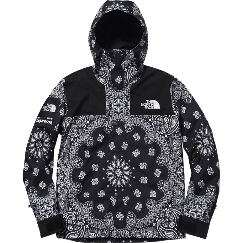 Supreme/The North Face Bandana Mountain Parka - Black