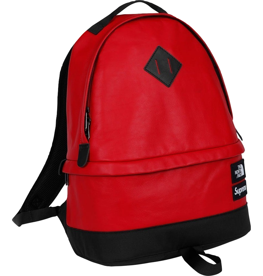 Supreme/The North Face Leather Day Pack - Red
