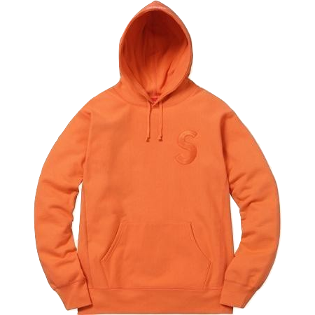 Supreme Tonal S Logo Hooded Sweatshirt - Bright Orange - Used