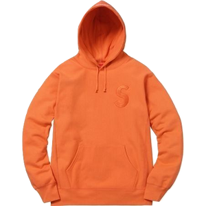 Supreme Tonal S Logo Hooded Sweatshirt - Bright Orange
