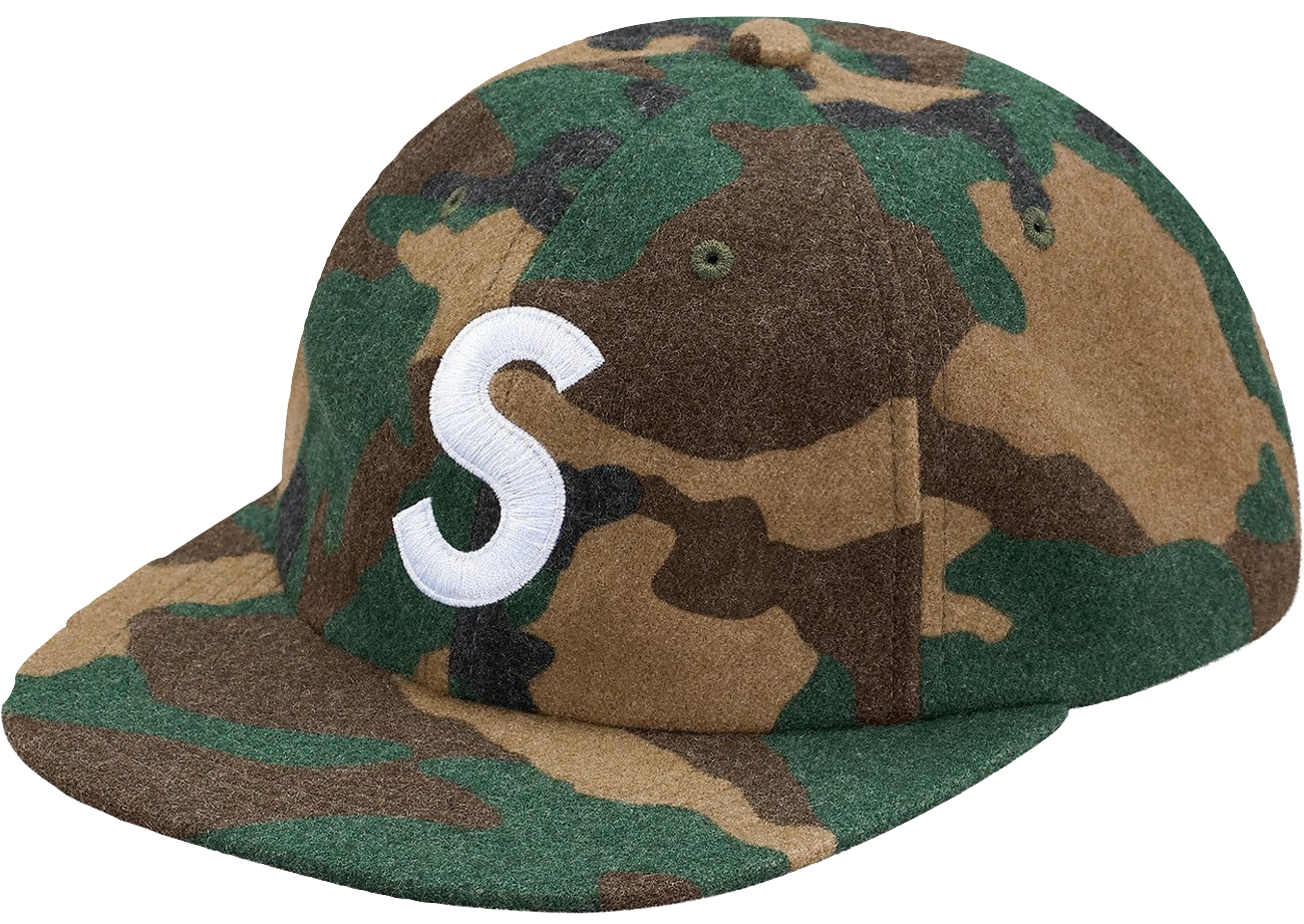 Supreme Wool S Logo 6-Panel Camo Hat