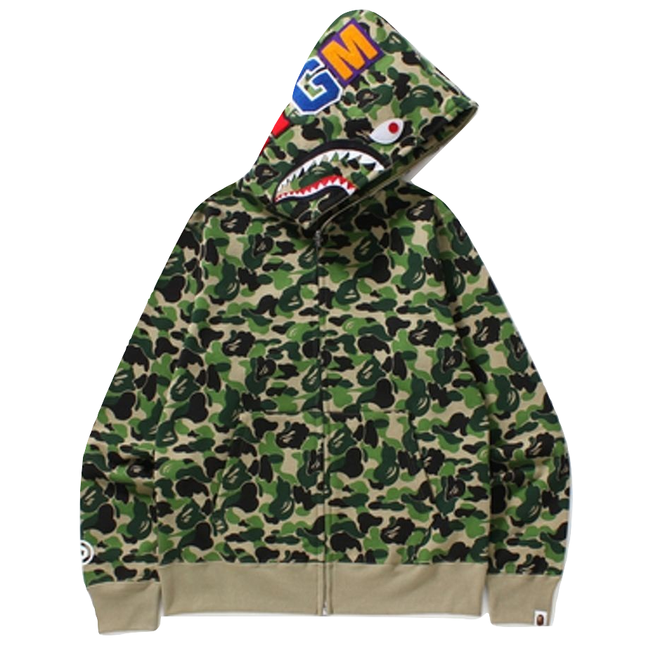 A Bathing Ape ABC Full Zip Shark Hoodie - Used