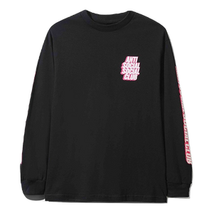 Anti Social Social Club Block Me L/S - Black