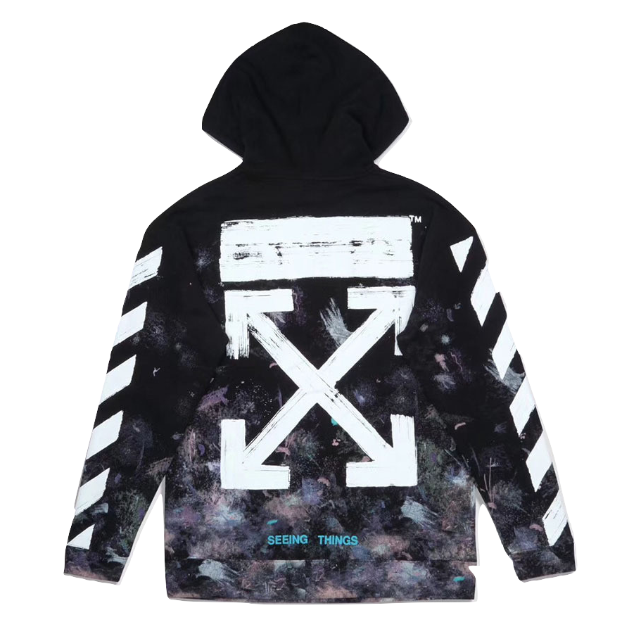 OFF White Galaxy Pullover - Black