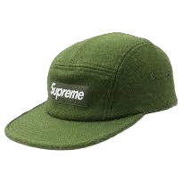 Supreme Featherweight Wool Camp Cap - Green - Used