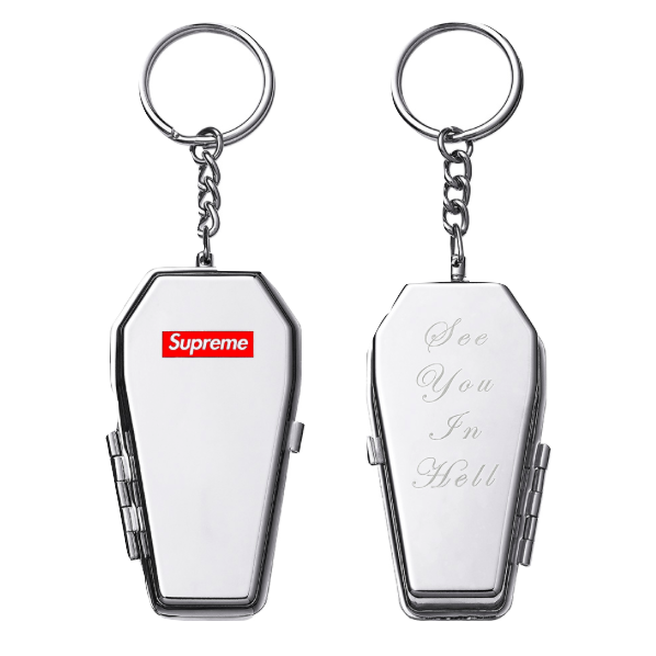 Supreme Coffin Keychain - Silver