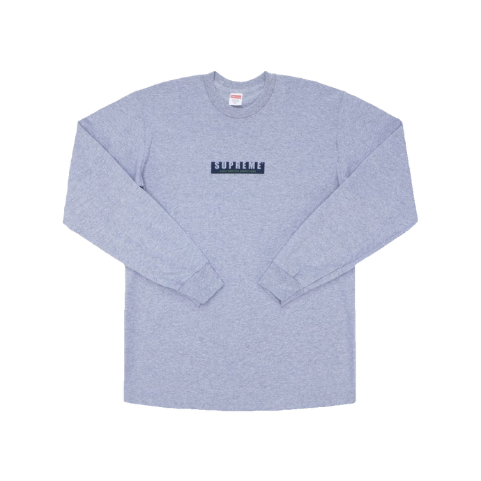Supreme 1994 L/S Tee - Heather Grey - Used