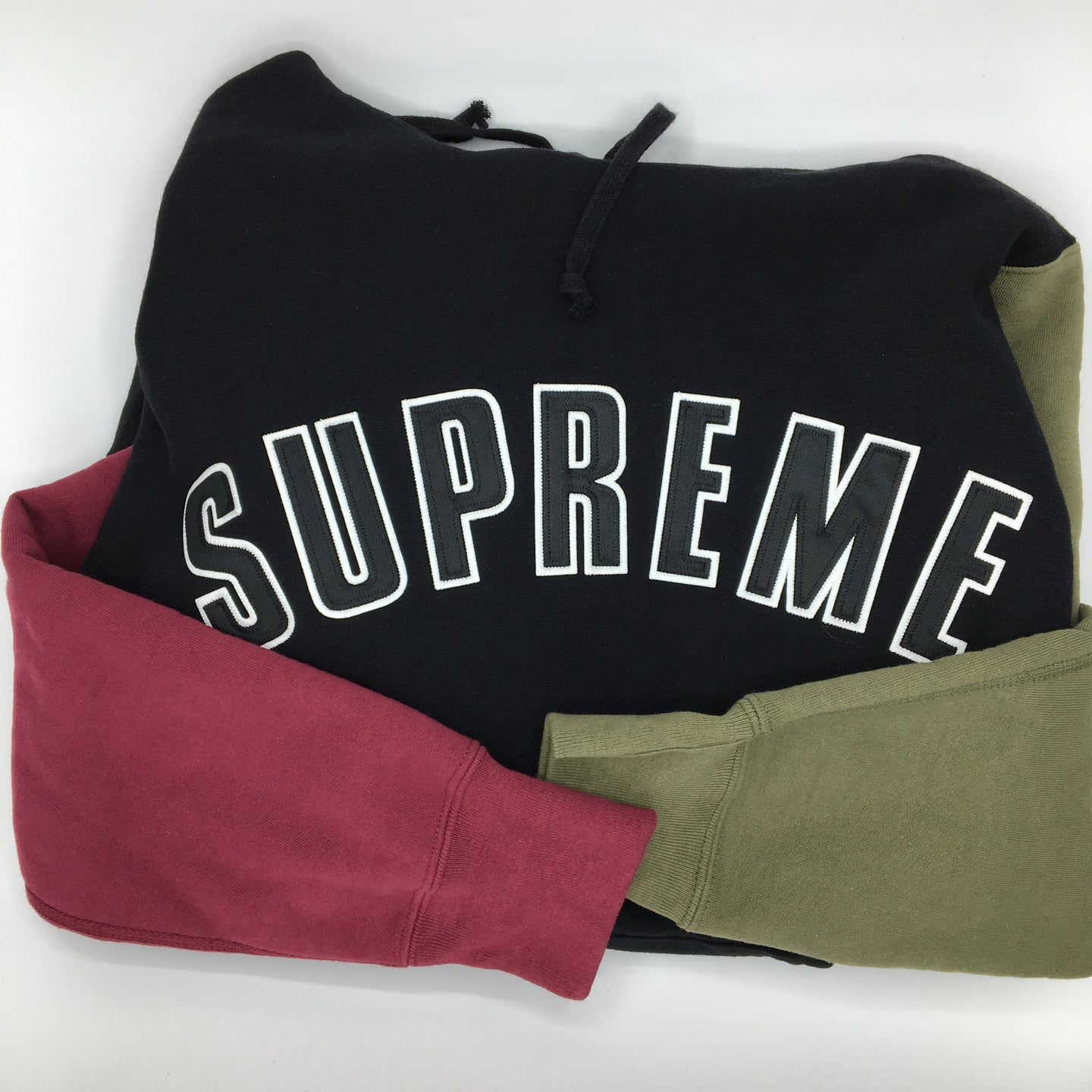 Supreme Color Block Arc Hoodie