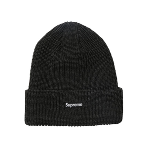 Supreme Heather Loose Gauge Beanie - Heather Black