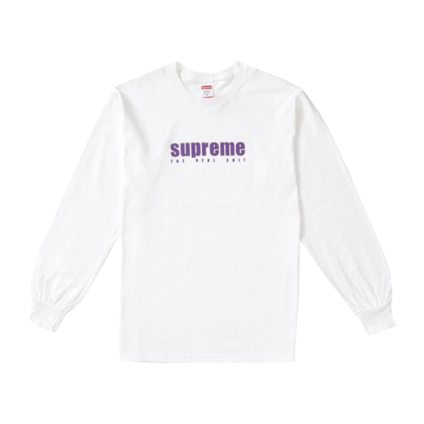 Supreme The Real Shit L/S Tee - White