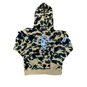 A Bathing Ape 1st Camo College Reflective Hoodie - Yellow Camo