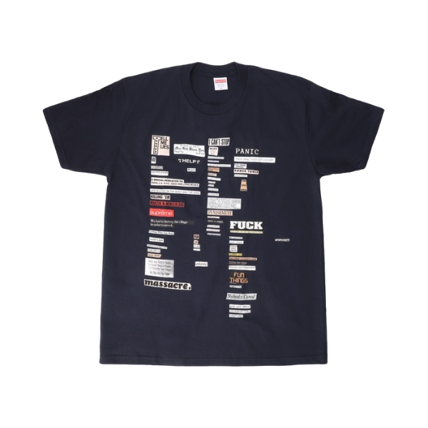 Supreme Cutouts Tee - Navy