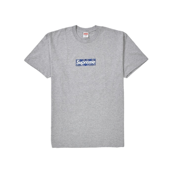 Supreme Bandana Box Logo Tee - Heather Grey