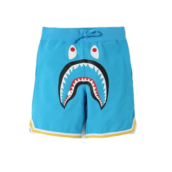 A Bathing Ape Shark Basketball Sweat Shorts - Sax