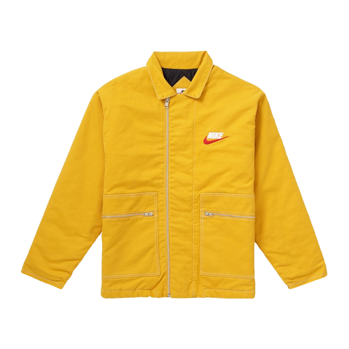 Supreme Nike Double Zip Quilted Jacket - Mustard