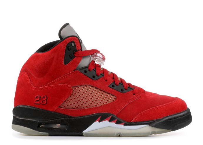 Air Jordan 5 Retro - Raging Bull Red Suede - Used